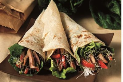 Balsamic Beef in Tortilla Wraps