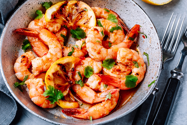 Spicy Shrimp with Garlic & Pepper